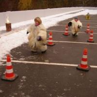 Schneeschreck-TÜV: Auch die Kleinen waren dabei.