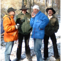 Narrenbaumholen in Hegne: Die Holzer aus Allensbach hatten natürlich ein Mitspracherecht.