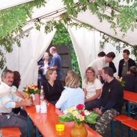 Räuberfest bei Ferdi: Auch der Räuber konnte feiern.