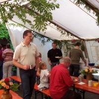 Räuberfest bei Ferdi: Langsam füllte sich das Zelt.