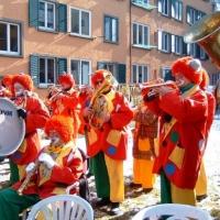Rosenmontag: Die Clowngruppe besuchte traditionell den Hindenburgblock.