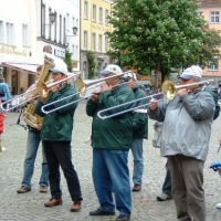 Vatertag der Clowngruppe: Zuerst spielte man in Meersburg.