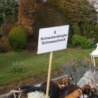 Schneeschreck beim Umzug in Aldingen: Noch ging es nicht los.