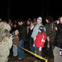 Schneeschreckerwachen: Es kamen wieder viele hundert Zuschauer in die Uni-Kurve.