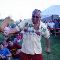 Schneckenbürgler Sommerfest: Natürlich gab es wieder einen Rätschenwettbewerb.