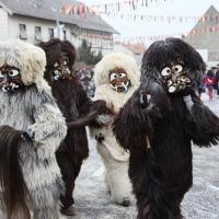 Sonntag-Umzug in Markelfingen: Der Schneeschreck beim Umzug.