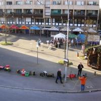 Narrenbaumstellen auf dem Gottmannplatz: Das Stellen kann beginnen.