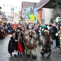 Sonntags-Umzug in Allensbach: Am Sonntag Mittag waren die Schneckenbürgler wieder dabei.