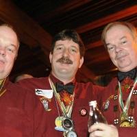 Partynacht an Fasnachtssamstag im Konzil: Die Elferräte Uwe Fiedler, Markus Deutinger und Norbert Fiedler waren auch vor Ort.