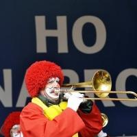 Schmutziger Donnerstag: Die Clowngruppe unter der Leitung von Gerd Zachenbacher.