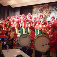 Rosenmontag mit der Clowngruppe: Danach ging es nach Moos.