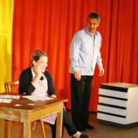 """11.11. in der Linde: Julia Egenhofer und Ekki Moser hatten einiges zu bereden bei Ihrem Sketsch: """"Ich komme""""."""