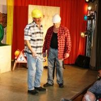 11.11. in der Linde: Remmi, demmi gab es auf der Baustelle mit Ekki Moser, Heinz Auer und Udo Dietrich.