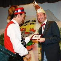 90 Jahre Schneckenburg: Als Gratulanten kamen unter anderem der frischgebackene Landvogt Manfred Knopf.