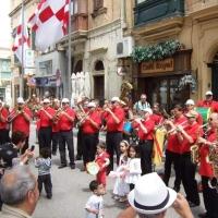 Die Clowngruppe auf der Insel Gozo: Am nächsten Tag gab es verschiedene Platzkonzerte.