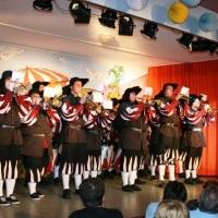 11.11. in der Linde: Nach der Pause spielte der Fanfarenzug unter der Leitung von Alexander Urban.