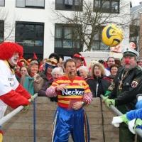 Schmutziger Donnerstag: Die Schneckenburg mussten zum Fussballspiel gegen die Niederbürgler antreten.