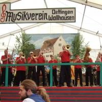Vatertag der Clowngruppe: Am Schluss spielte man noch auf dem Bergfest vom Musikverein Dettingen.