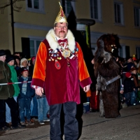 Verbrennung auf dem Stefansplatz: Elferrat Andreas Fritzsche hatte alles im Griff.