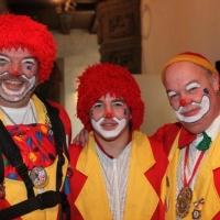 Frühschoppen im Konzil: Die Clowns nach dem Auftritt.