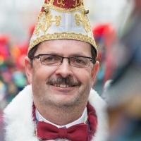 Umzug am Fasnachtssonntag: Umzugsbegleiter Elferrat Jörg Becker.