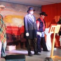 11.11. in der Linde: Blau von den Bergen kamen die Sänger Markus Deutinger, Bernd und Dirk Mutter und Wolfgang Sterk.