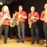 Männerballett-Treffen vom Schneeschreck: Das Saxophon-Register der Clowngruppe.