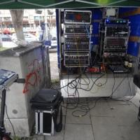 Narrenbaumstellen auf dem Gottmannplatz: Die Technik auf dem Platz stand parat.