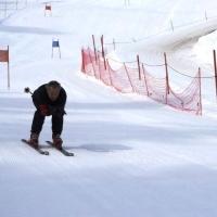 Skirennen vom Schneeschreck in Grüsch Danusa: Jeder fuhr so schnell er konnte.