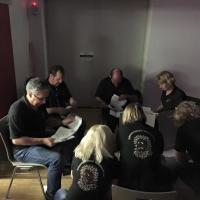 Männerballett-Treffen vom Schneeschreck: Nach den Tänzen folgte die Auszählung der abgegebenen Stimmen durch die Jury.
