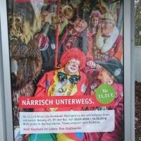 In diesem Jahr war die Schneckenburg Werbefigur für das Narrenticket der Stadtwerke.