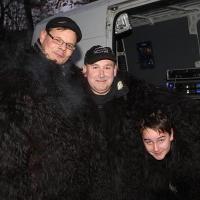 Schneeschreckerwachen in der Unikurve: Das Technik-Team vom Schneeschreck.