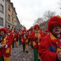 Umzug am Fasnachtssonntag: Darauf folgte die Clowngruppe.