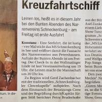 11.11. in der Linde: Der Vorbericht im Südkurier.