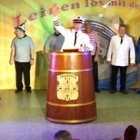 11.11. in der Linde: Präsident Jürgen Stöß begrüßte das Publikum und eröffnete den Abend.
