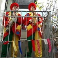 Rosenmontag mit der Clowngruppe: Darauf folgte der Besuch des Don Bosco Hauses.