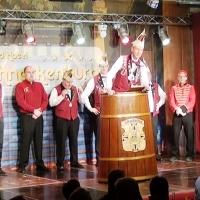 11.11. der Schneckenburg: Präsident Jürgen der I. eröffnete den Abend.