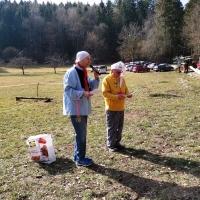 Narrenbaum holen in Hegne: Die beiden Präsidenten beim offiziellen Teil der Veranstaltung.