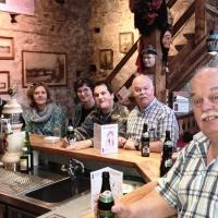 Die Clowngruppe beim Museumsdienst im Rheintorturm