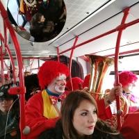 Schmutziger Donnerstag: Danach fuhr der Verein im Bus weiter.
