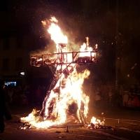 Verbrennung auf dem Stefansplatz: Die Puppe brannte.