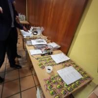 Ordensverleihung: Nach dem Essen lagen die Orden für die Übergabe bereit.