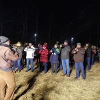 Erwachen des Schneeschrecks: Zum Abschluß spielte die Clowngruppe unter der Leitung von Gerd Zachenbacher.