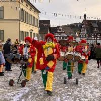 Sonntagsumzug in Eigeltingen: Die Clowngruppe unter der Leitung von Gerd Zachenbacher.