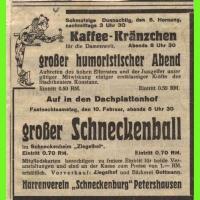 Das Programm der Schneckenbürgler Saalfasnacht von 1934.