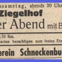 Bunter Abend mit Ball im Zieglhof 1935.