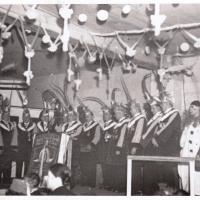 Bunter Abend 1938: Präsident Johann Gottmann eröffnet den Abend.
