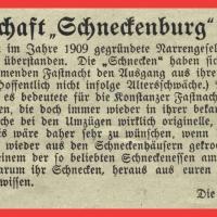 Zeitungsartikel 1949 zum Beginn der Fasnacht nach dem 2. Weltkrieg.